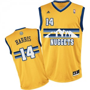Denver Nuggets Gary Harris #14 Alternate Swingman Maillot d'équipe de NBA - Or pour Homme