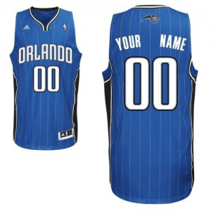 Maillot NBA Orlando Magic Personnalisé Swingman Bleu royal Adidas Road - Enfants