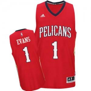 Maillot NBA Swingman Tyreke Evans #1 New Orleans Pelicans Alternate Rouge - Homme