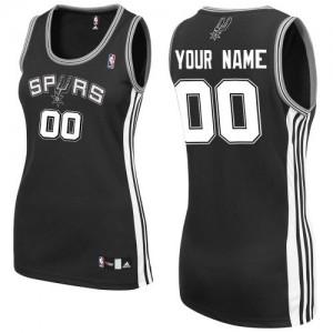 San Antonio Spurs Personnalisé Adidas Road Noir Maillot d'équipe de NBA pas cher - Authentic pour Femme