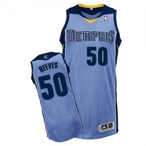 Maillot NBA Bleu clair Bryant Reeves #50 Memphis Grizzlies Alternate Authentic Homme Adidas