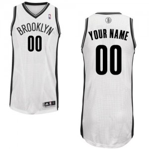 Maillot NBA Brooklyn Nets Personnalisé Authentic Blanc Adidas Home - Homme