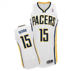 Indiana Pacers Donald Sloan #15 Home Authentic Maillot d'équipe de NBA - Blanc pour Homme