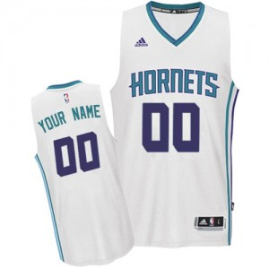 Charlotte Hornets Personnalisé Adidas Home Blanc Maillot d'équipe de NBA Remise - Authentic pour Homme