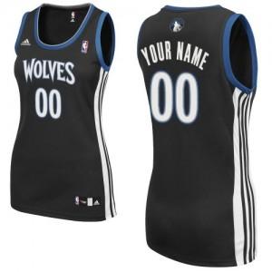 Maillot NBA Swingman Personnalisé Minnesota Timberwolves Alternate Noir - Femme