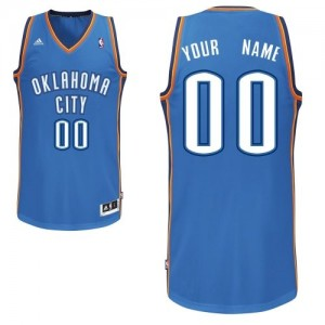Oklahoma City Thunder Swingman Personnalisé Road Maillot d'équipe de NBA - Bleu royal pour Enfants