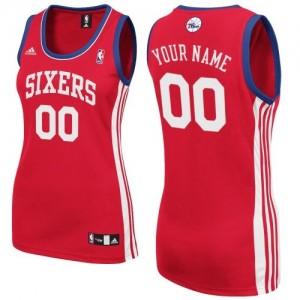 Maillot NBA Rouge Swingman Personnalisé Philadelphia 76ers Road Femme Adidas