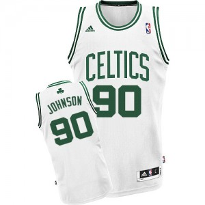 Maillot NBA Boston Celtics #90 Amir Johnson Blanc Adidas Swingman Home - Homme