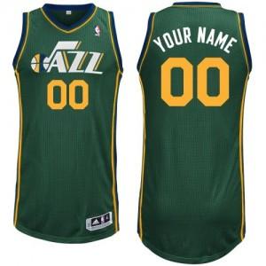 Maillot NBA Vert Swingman Personnalisé Utah Jazz Alternate Femme Adidas