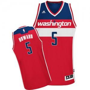 Maillot NBA Rouge Juwan Howard #5 Washington Wizards Road Swingman Homme Adidas