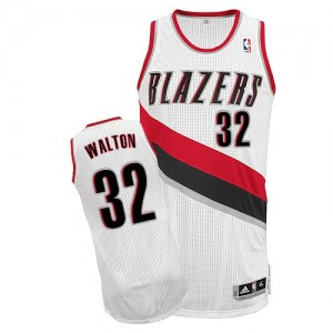 Maillot NBA Blanc Bill Walton #32 Portland Trail Blazers Home Authentic Homme Adidas