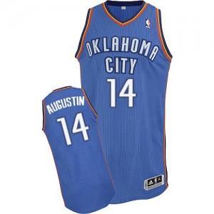 Oklahoma City Thunder #14 Adidas Road Bleu royal Authentic Maillot d'équipe de NBA pas cher - D.J. Augustin pour Homme