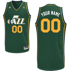 Maillot NBA Utah Jazz Personnalisé Swingman Vert Adidas Alternate - Enfants