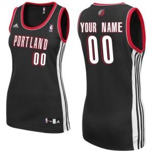 Maillot NBA Swingman Personnalisé Portland Trail Blazers Road Noir - Femme