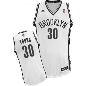 Brooklyn Nets #30 Adidas Home Blanc Swingman Maillot d'équipe de NBA boutique en ligne - Thaddeus Young pour Femme