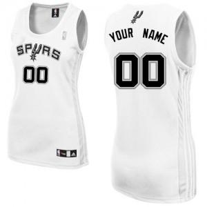 San Antonio Spurs Personnalisé Adidas Home Blanc Maillot d'équipe de NBA Promotions - Authentic pour Femme