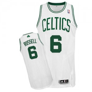 Maillot NBA Blanc Bill Russell #6 Boston Celtics Home Authentic Homme Adidas