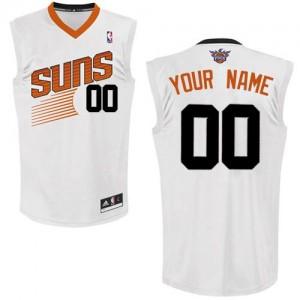 Phoenix Suns Personnalisé Adidas Home Blanc Maillot d'équipe de NBA Braderie - Authentic pour Enfants