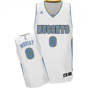 Denver Nuggets Emmanuel Mudiay #0 Home Swingman Maillot d'équipe de NBA - Blanc pour Homme