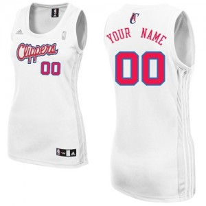 Maillot NBA Los Angeles Clippers Personnalisé Swingman Blanc Adidas Home - Femme