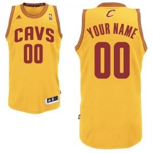 Cleveland Cavaliers Swingman Personnalisé Alternate Maillot d'équipe de NBA - Or pour Homme