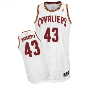 Maillot Authentic Cleveland Cavaliers NBA Home Blanc - #43 Brad Daugherty - Homme
