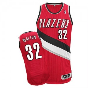 Maillot NBA Rouge Bill Walton #32 Portland Trail Blazers Alternate Authentic Homme Adidas