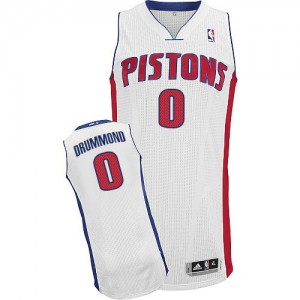 Maillot NBA Authentic Andre Drummond #0 Detroit Pistons Home Blanc - Homme