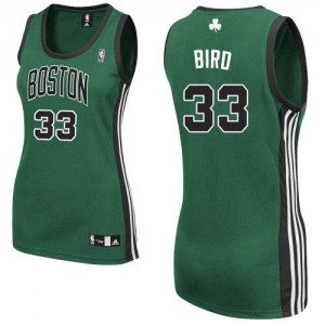 Maillot Authentic Boston Celtics NBA Alternate Vert (No. noir) - #33 Larry Bird - Femme