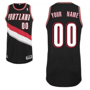 Maillot Portland Trail Blazers NBA Road Noir - Personnalisé Authentic - Homme