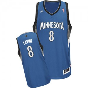 Maillot Adidas Slate Blue Road Swingman Minnesota Timberwolves - Zach LaVine #8 - Homme