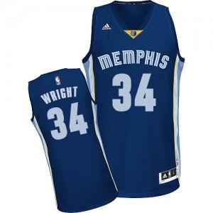 Memphis Grizzlies #34 Adidas Road Bleu marin Swingman Maillot d'équipe de NBA Vente pas cher - Brandan Wright pour Homme
