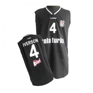 Maillot NBA Philadelphia 76ers #4 Allen Iverson Noir Adidas Swingman - Homme