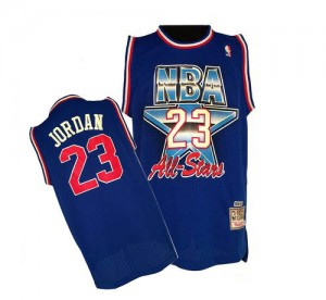 Chicago Bulls #23 Mitchell and Ness 1992 All Star Throwback Bleu Swingman Maillot d'équipe de NBA en vente en ligne - Michael Jordan pour Homme