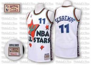 Maillot NBA Authentic Detlef Schrempf #11 Oklahoma City Thunder Throwback 1995 All Star Blanc - Homme