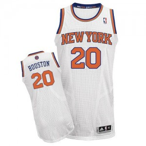Maillot NBA Blanc Allan Houston #20 New York Knicks Home Authentic Homme Adidas