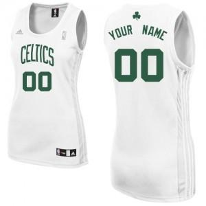 Boston Celtics Personnalisé Adidas Home Blanc Maillot d'équipe de NBA Promotions - Swingman pour Femme