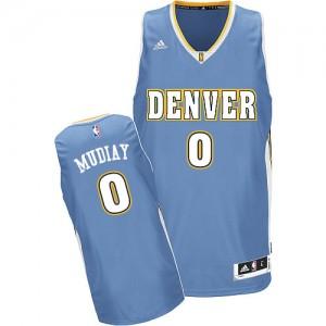 Maillot Swingman Denver Nuggets NBA Road Bleu clair - #0 Emmanuel Mudiay - Homme