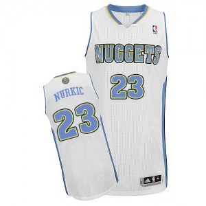 Maillot Adidas Blanc Home Authentic Denver Nuggets - Jusuf Nurkic #23 - Homme
