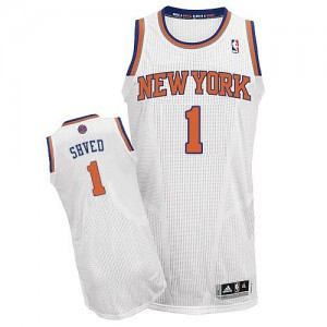 Maillot NBA Blanc Alexey Shved #1 New York Knicks Home Authentic Homme Adidas