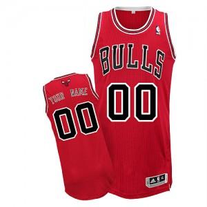 Chicago Bulls Personnalisé Adidas Road Rouge Maillot d'équipe de NBA Braderie - Authentic pour Homme