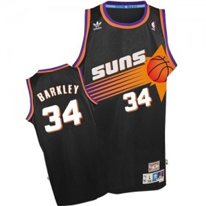 Phoenix Suns #34 Adidas Throwback Noir Authentic Maillot d'équipe de NBA prix d'usine en ligne - Charles Barkley pour Homme