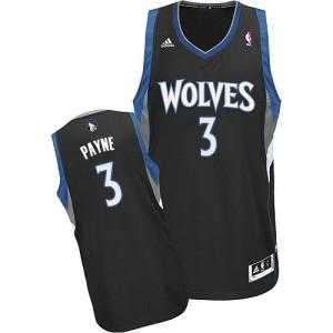 Maillot NBA Minnesota Timberwolves #3 Adreian Payne Noir Adidas Swingman Alternate - Homme