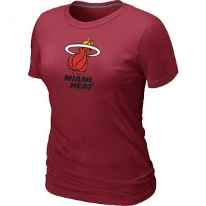 T-shirt principal de logo Miami Heat NBA Big & Tall Rouge - Femme