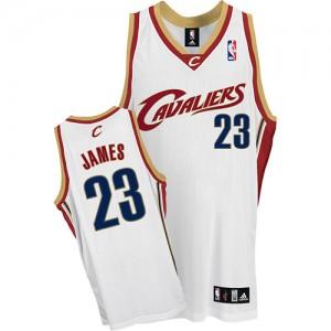 Cleveland Cavaliers LeBron James #23 Authentic Maillot d'équipe de NBA - Blanc pour Homme