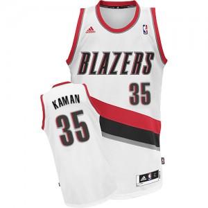 Portland Trail Blazers Chris Kaman #35 Home Swingman Maillot d'équipe de NBA - Blanc pour Homme