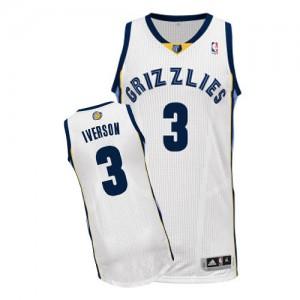 Maillot NBA Blanc Allen Iverson #3 Memphis Grizzlies Home Authentic Homme Adidas