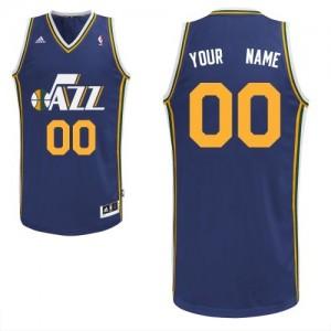 Maillot Adidas Bleu marin Road Utah Jazz - Swingman Personnalisé - Homme