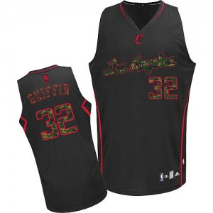 Los Angeles Clippers Blake Griffin #32 Fashion Authentic Maillot d'équipe de NBA - Camo noir pour Homme