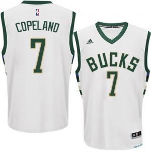 Milwaukee Bucks #7 Adidas Home Blanc Authentic Maillot d'équipe de NBA en vente en ligne - Chris Copeland pour Homme